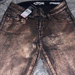 GUESS Power skinny Copper Coated Jeans